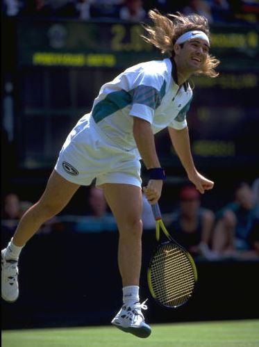 ウィンブルドンでのアガシ選手(1993年)
