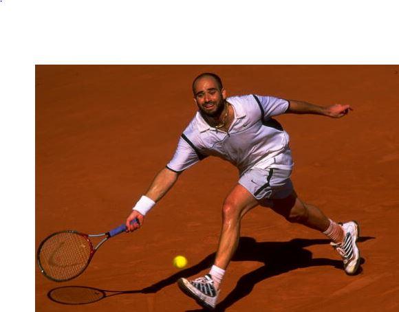 1999年全仏オープン時のアガシ選手